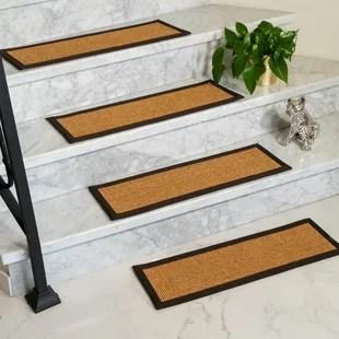 Natural Fiber Stair Treads Joss Main | Sisal Carpet Stair Treads | Area Rugs | Fiber Sisal | Natural Fiber | Etsy | Oak Valley