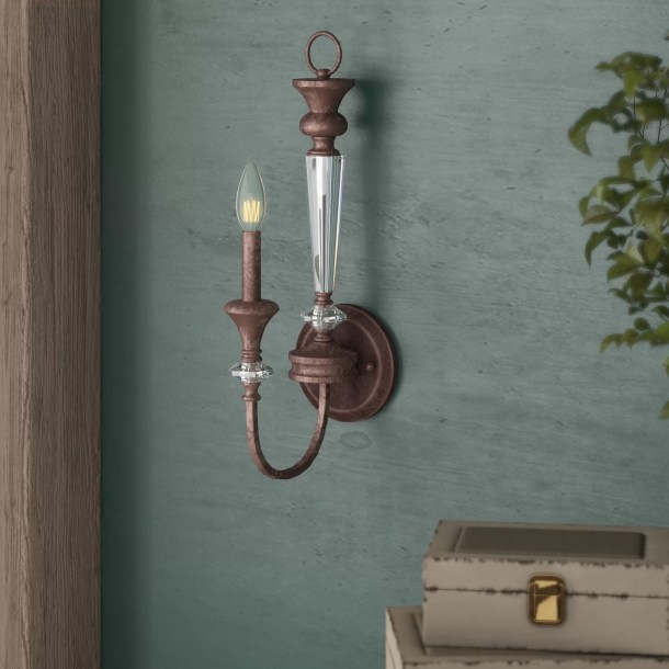 Lapierre 1-Light Candle Wall Light