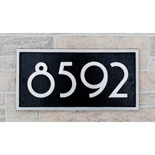 Modern   Contemporary Address Plaques   Signs You ll Love   Wayfair Superior Series Modern Font 1 Line Wall Address Plaque