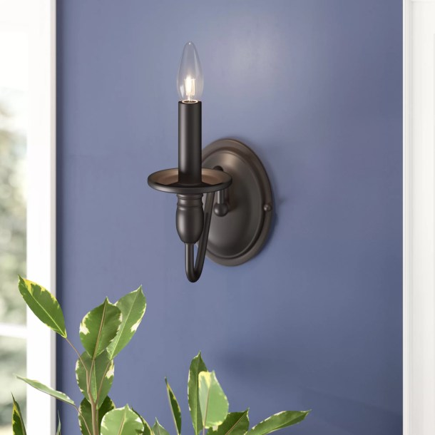 Olivier 1 - Light Dimmable Oil Rubbed Bronze Candle Wall Light