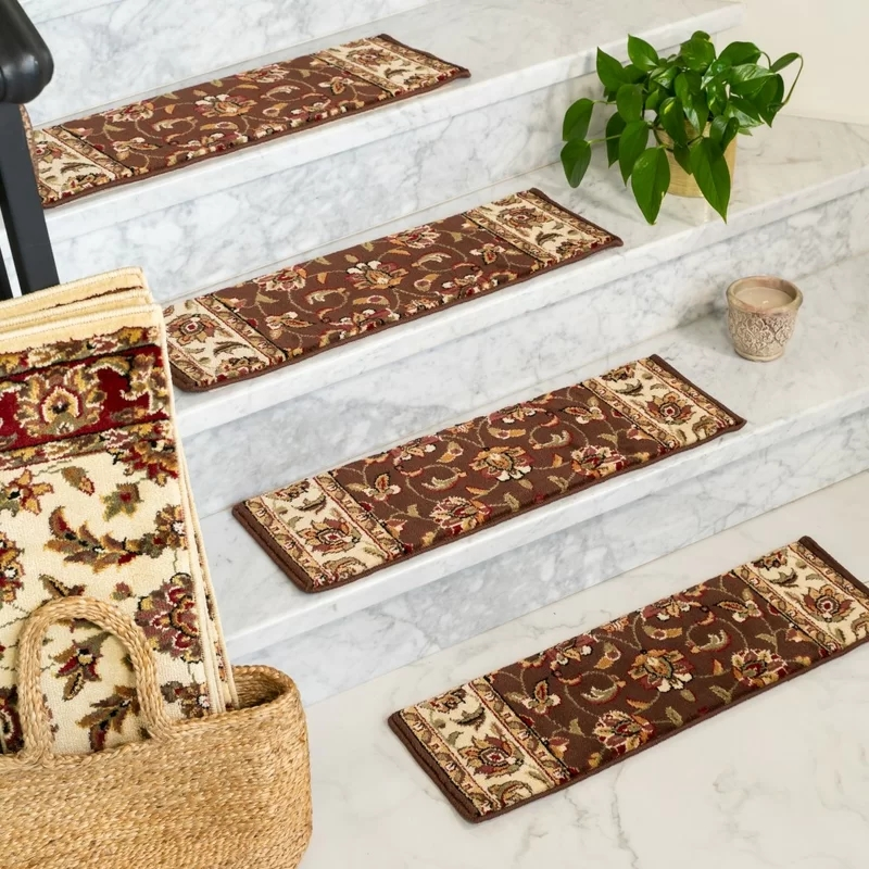 Wildon Home® Summit Stair Tread Reviews Wayfair | Wayfair Carpet Stair Treads | Tucker Murphy | Carpet Runners | Oaks Godinez | Stair Railing | Beige Carpet