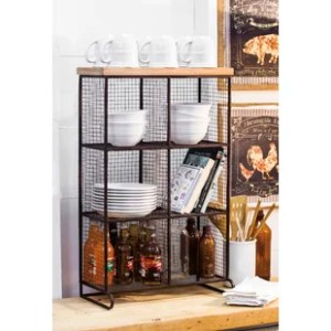Wire Mesh Shelving   Wayfair co uk Farias Wire Mesh 6 Bin Cubical Storage