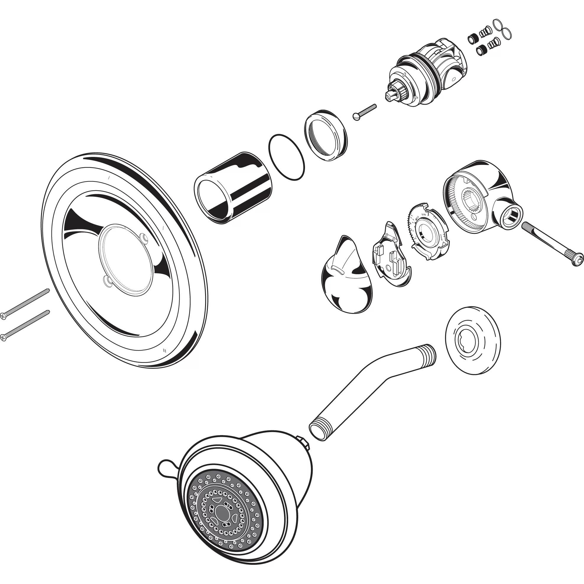 Delta 1400 Series Shower Faucet Repair