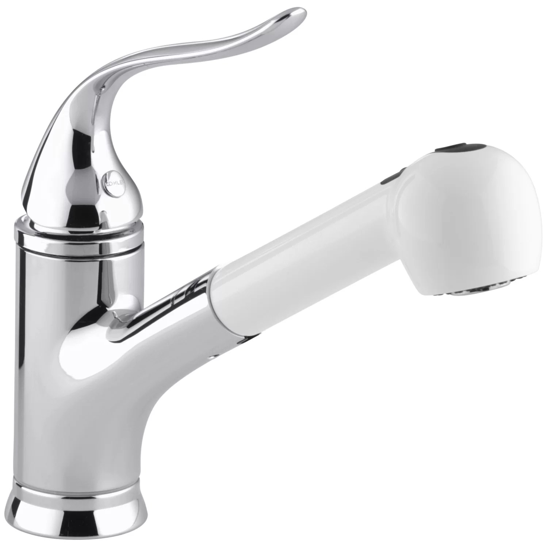 White Kitchen Faucet 3 Hole