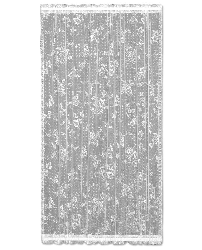 Heritage Lace Ivy Graphic Print & Text Sheer Rod pocket ...