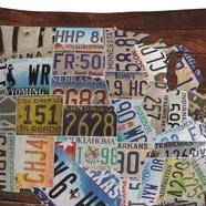 HD Decor Images » Usa License Plate Map On Wood   Wayfair Llewellyn Usa License Plate Map on Wood Throw Pillow