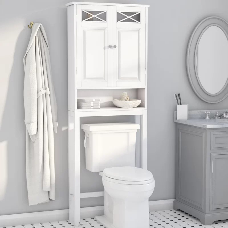 "Darby Home Co Coddington 25"" W x 68"" H Over The Toilet ..."