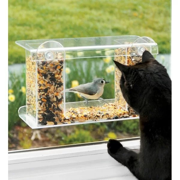 Plow Amp Hearth Window Mount See Through Tray Bird Feeder