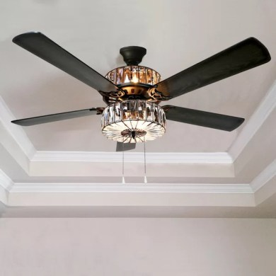 River of Goods 52  Caged Crystal 5 Blade Ceiling Fan with Remote     River of Goods 52  Caged Crystal 5 Blade Ceiling Fan with Remote   Reviews    Wayfair