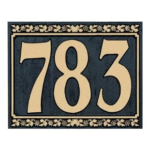Address Plaques   House Numbers   Joss   Main Dresden 1 Line Wall Address Plaque