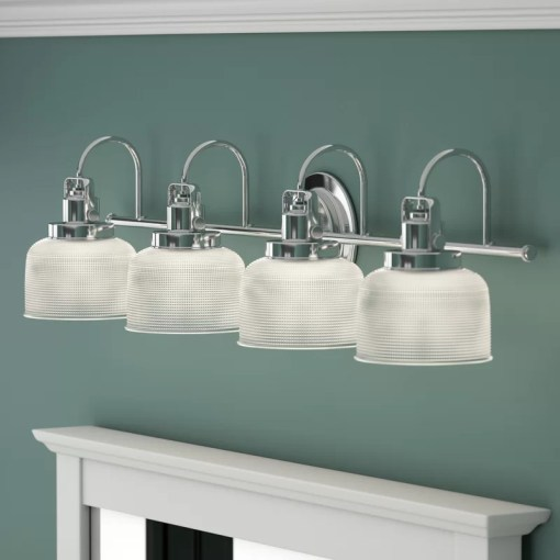 Beachcrest Home Gotha 4 Light Vanity Light   Reviews   Wayfair Gotha 4 Light Vanity Light