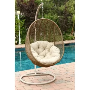 Rattan Wicker Pod Swing Chair   Wayfair Deborah Swing Chair with Stand