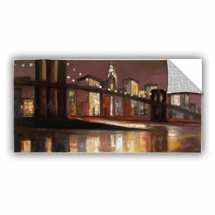 Nyc Painting   Wayfair  NYC Nighttime  Painting Print