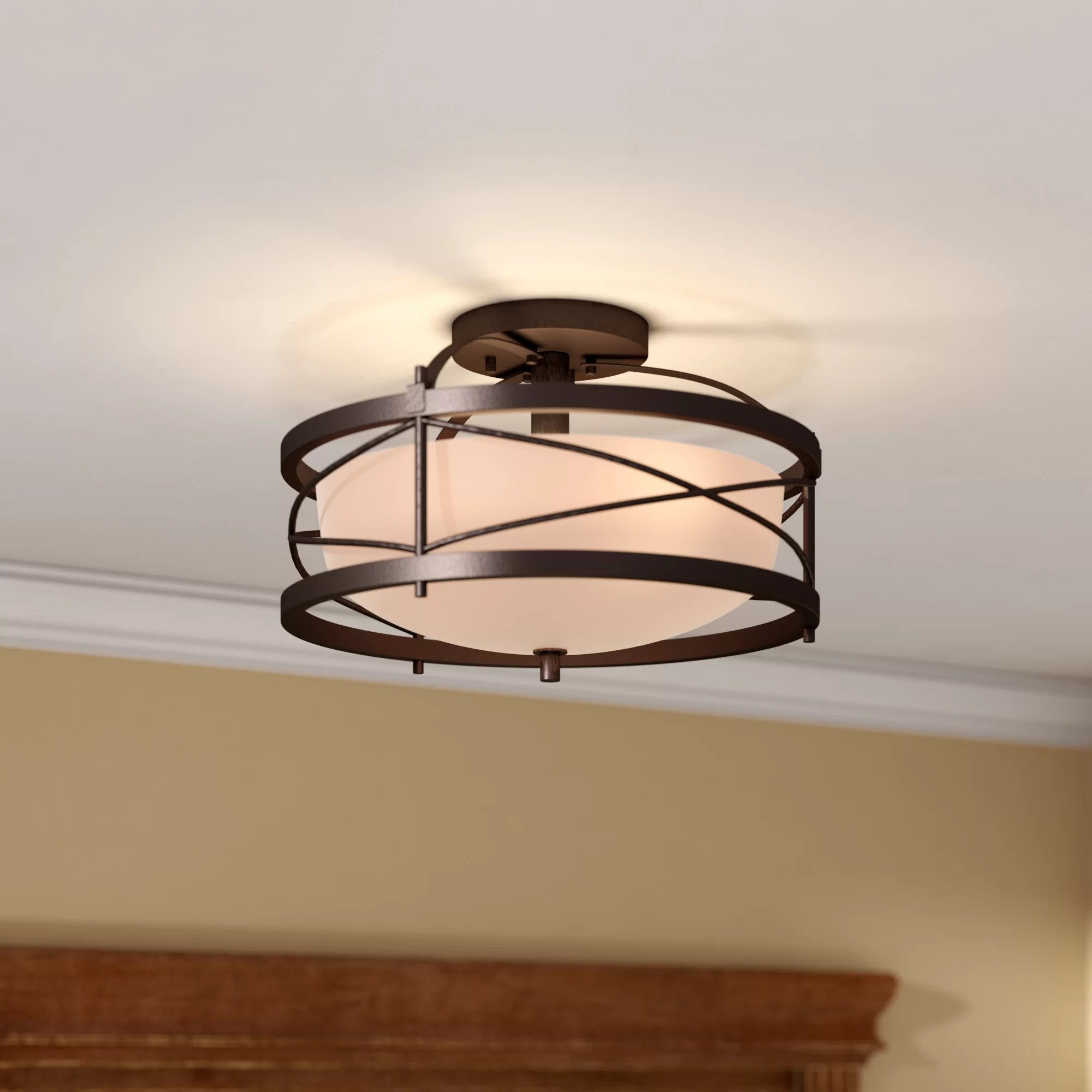 Flush Mount Lighting You ll Love   Wayfair Save