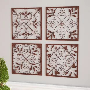 Wall D    cor You ll Love   Wayfair 4 Piece Wall D    cor Set
