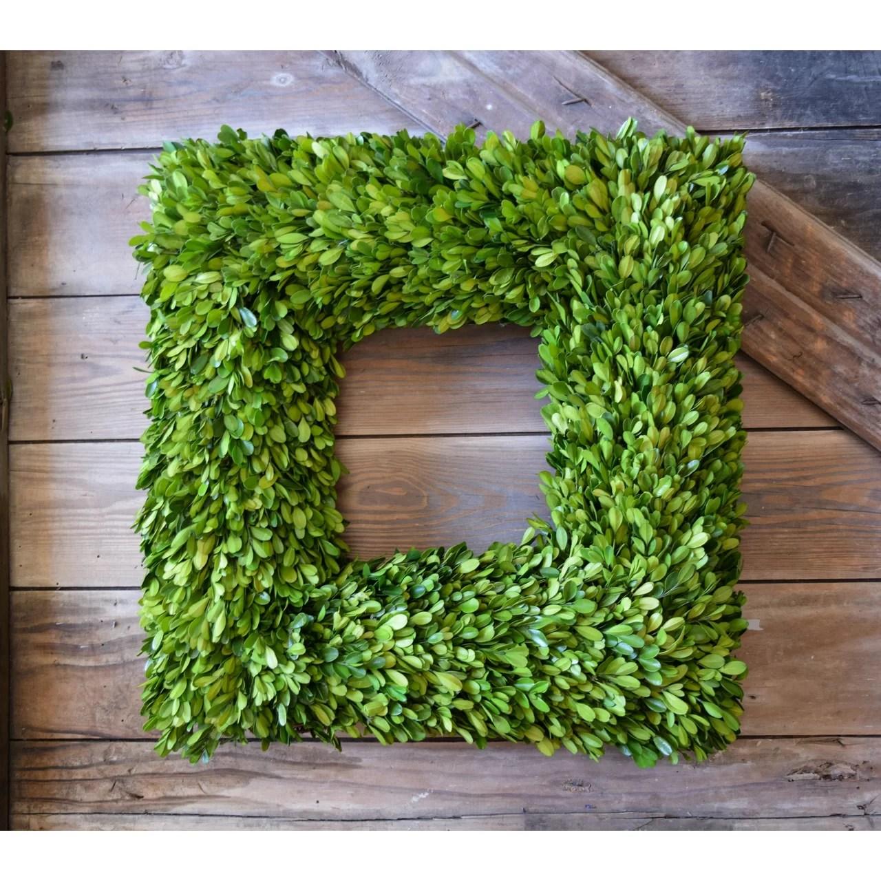 "Birch Lane Square Preserved 20"" Boxwood Wreath & Reviews ..."