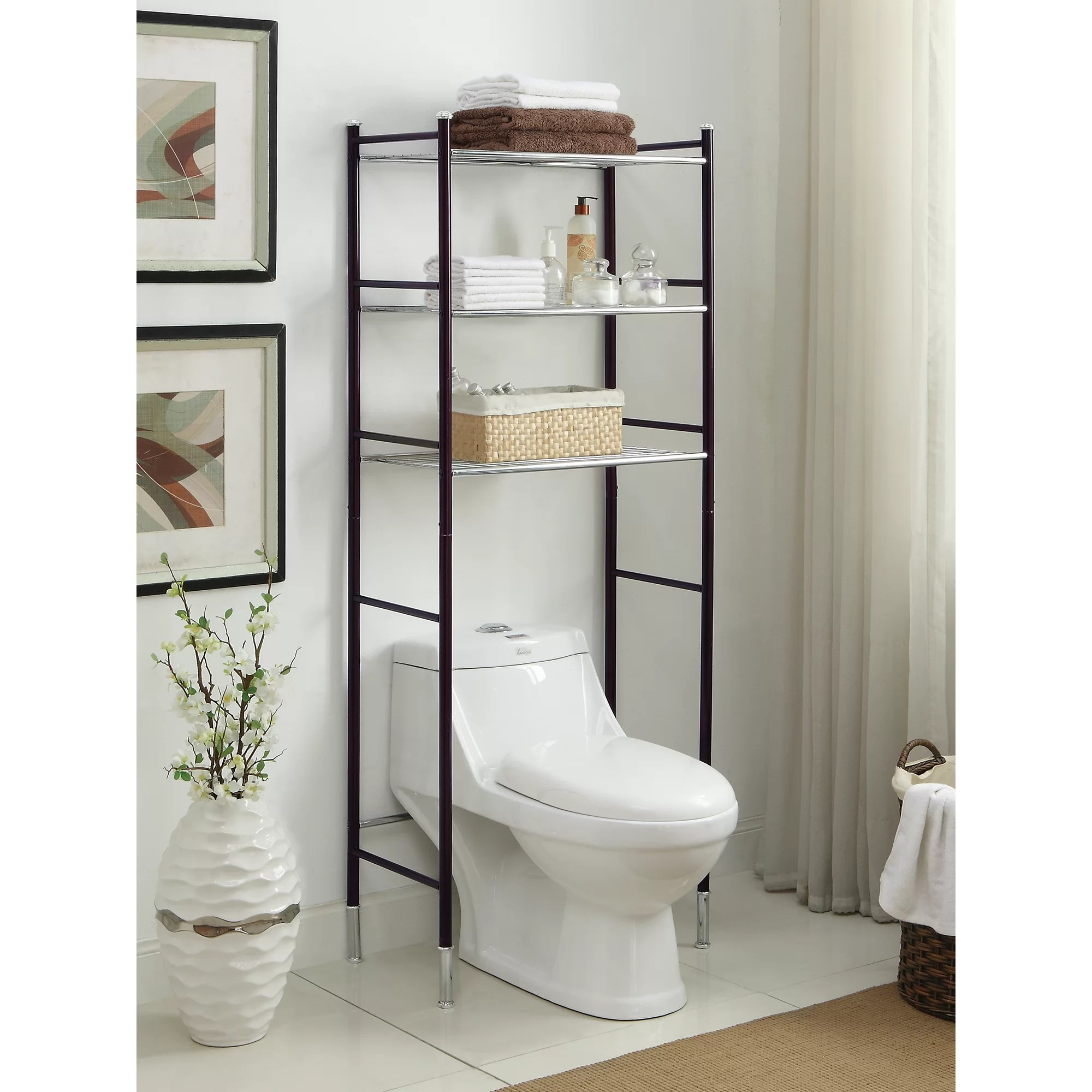 "OIA Duplex 24"" W x 66.25"" H Over the Toilet Storage ..."