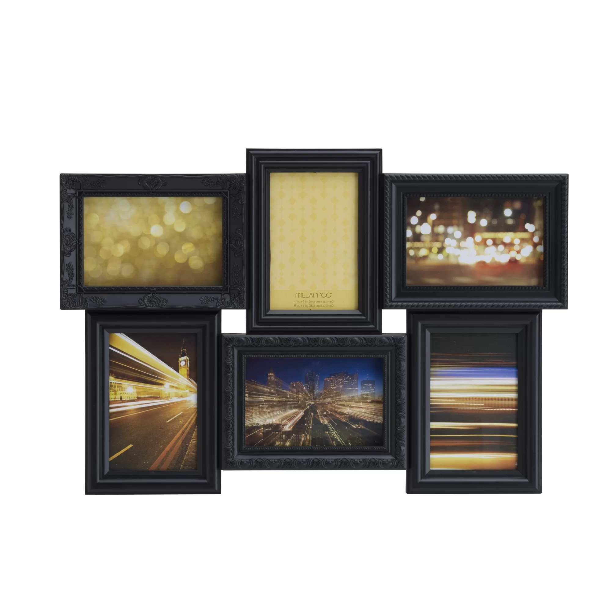 Modern 6 Opening Collage Frame Elaboration - Picture Frame Ideas ...