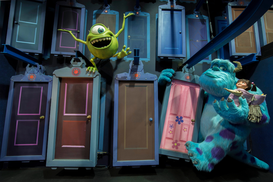Boo Monsters Inc Scare Floor Door