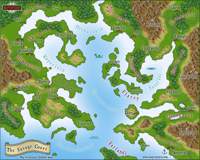 ProFantasy Software   Search the ProFantasy map library   map making     The Savage Coast