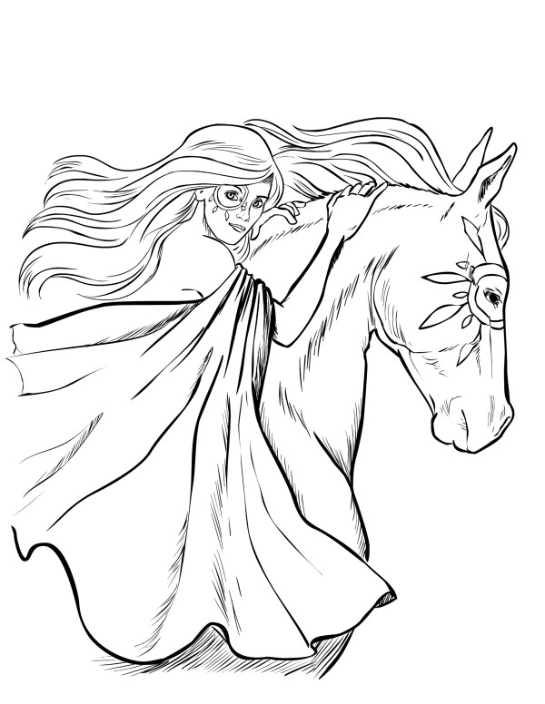 horse coloring pages # 13