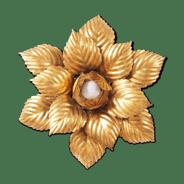 Golden Flower Wall Light Metal Golden Vintage 6zdgbgj