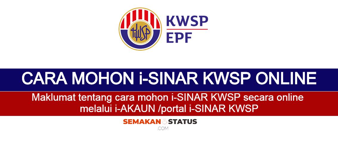 CARA MOHON i-SINAR KWSP ONLINE