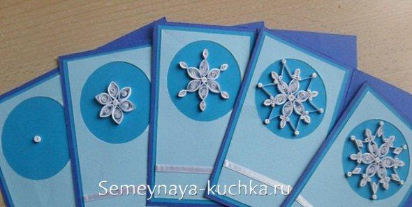 Snowflakes سال نو در کارت پستال کلاس استاد