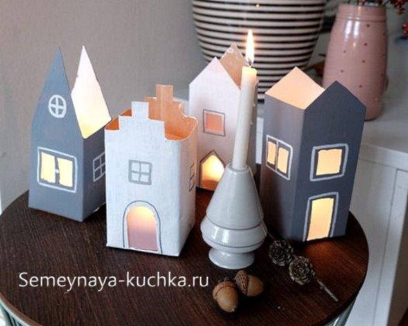 подсвечники домики