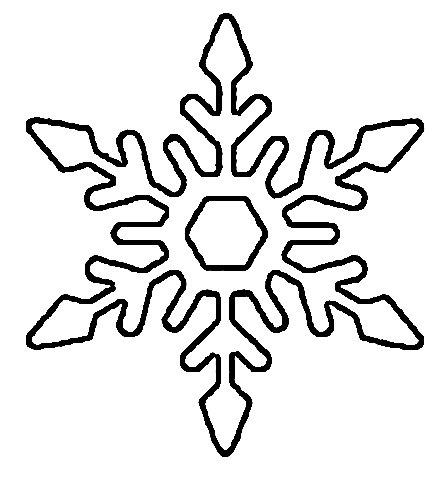 Stencil Snowflake de la Hârtie pentru Anul Nou