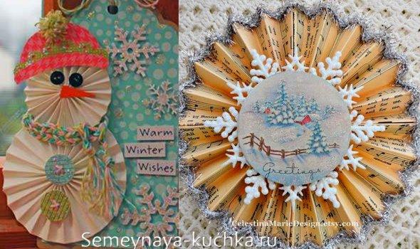 فن Snowflake از کاغذ