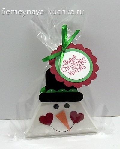 Crafts Snowman hình tam giác.