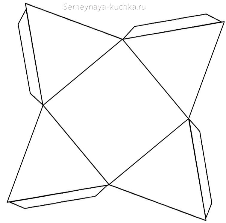Sơ đồ lắp ráp kim tự tháp tuyết đơn giản