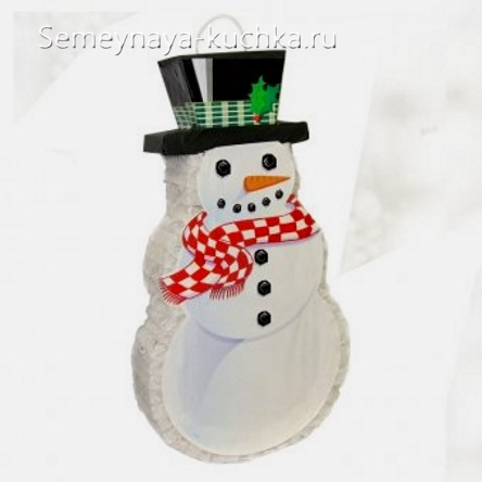 снеговик из рулонов