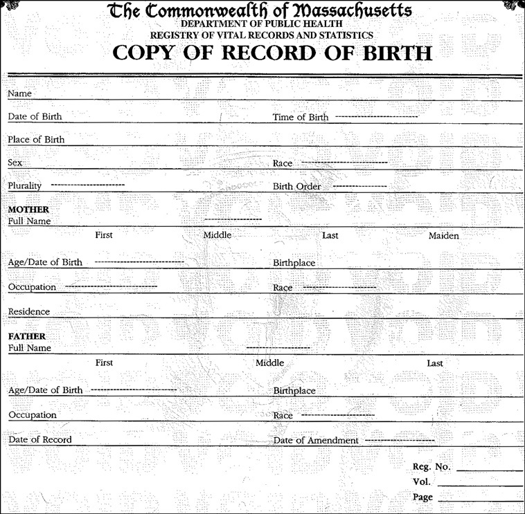 Order Birth Certificate