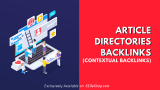 Article directories backlinks (contextual backlinks)