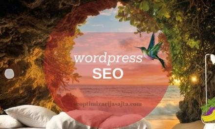 Optimizacija wordpress sajta