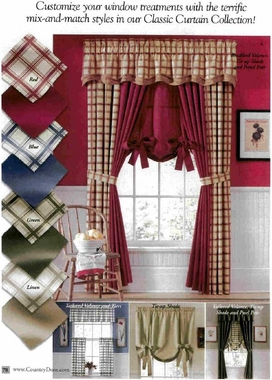 Tie Up Shade Logan Plaid And Solid Clearance
