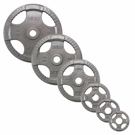 Body Solid Olympic Grip Weight Plate Set 255lbs