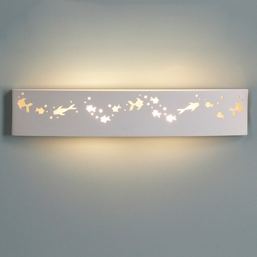 27 5  Rectangular Bathroom Light w  Fish Figures