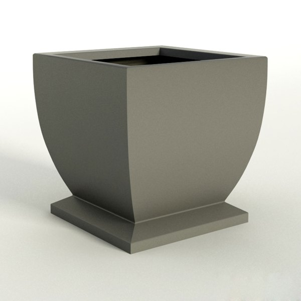 Novara Square Planter Pots  Modern   Unique Outdoor Planters Novara Square Planter