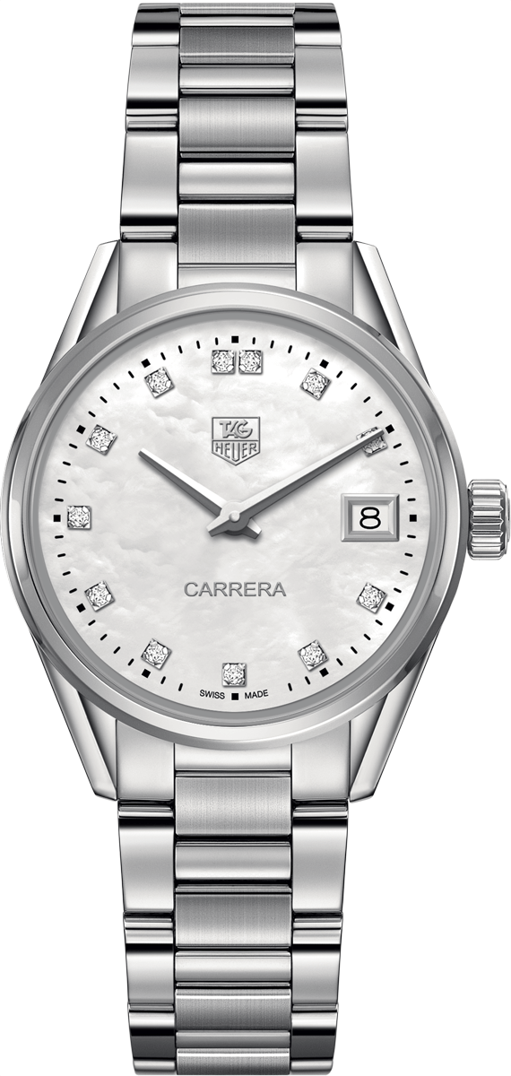 WAR1314.BA0778 TAG Heuer Carrera Womens 32mm Diamond Pearl ...