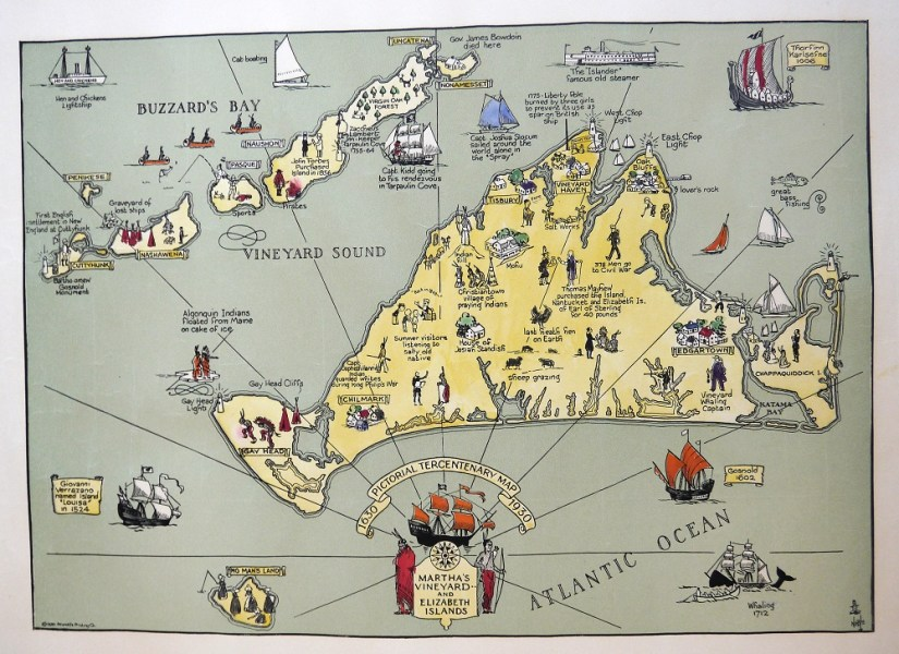 Martha s Vineyard Tercentenary Map 1930