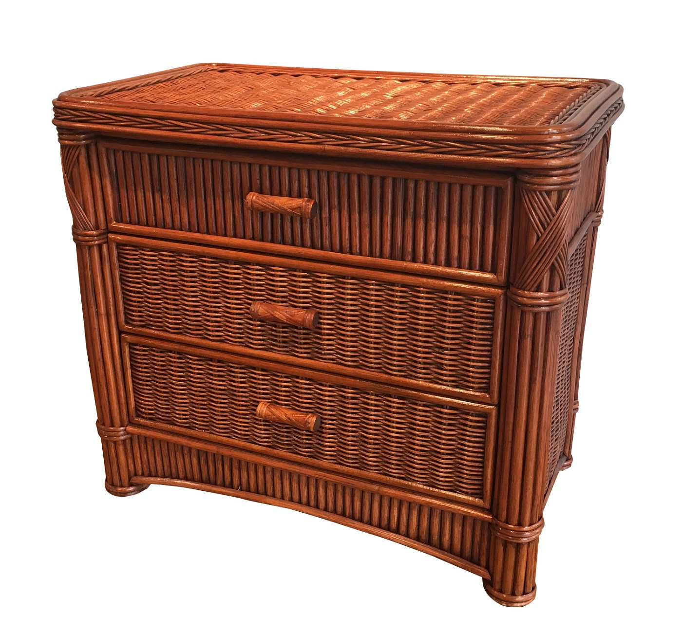 Rattan Chest 3 Drawer Barbados Wicker Paradise