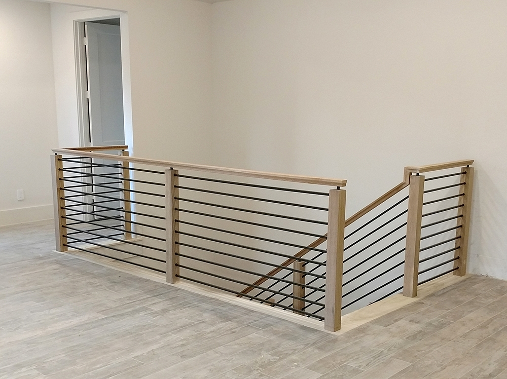 Modern Stair Railing Only 15 00 4492 Modern Box Newel 4 3 4 | Stairs And Railings Near Me | Stair Treads | Deck | Stair Parts | Iron Balusters | Stair Case