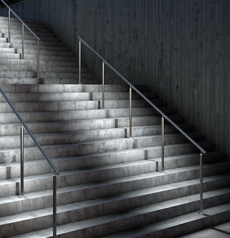 Stainless Led Lighted Railing Span Stainless Steel Span Stair   Lighted Handrails For Stairs   Wood Hand Rail Design   Antique   Brushed Nickel   Modern   Acrylic