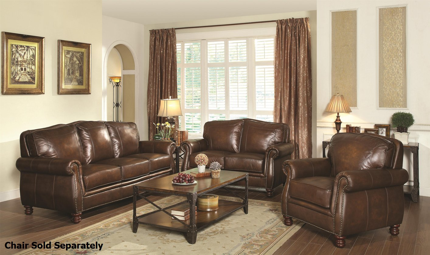 Best Kitchen Gallery: Montbrook Brown Leather Sofa And Loveseat Set Steal A Sofa of Leather Sofa Set  on rachelxblog.com