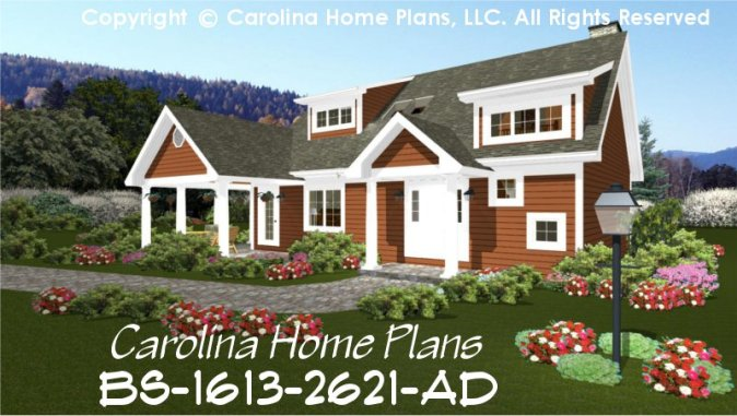 Build in Stages 2 Story House Plan BS 1613 2621 AD Sq Ft   2 Story     CHP BS 1613 2621 AD br   Expandable 2 Story