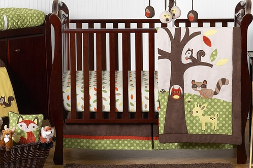 Woodland Forest Animals Baby Bedding - 11pc Crib Set by ...