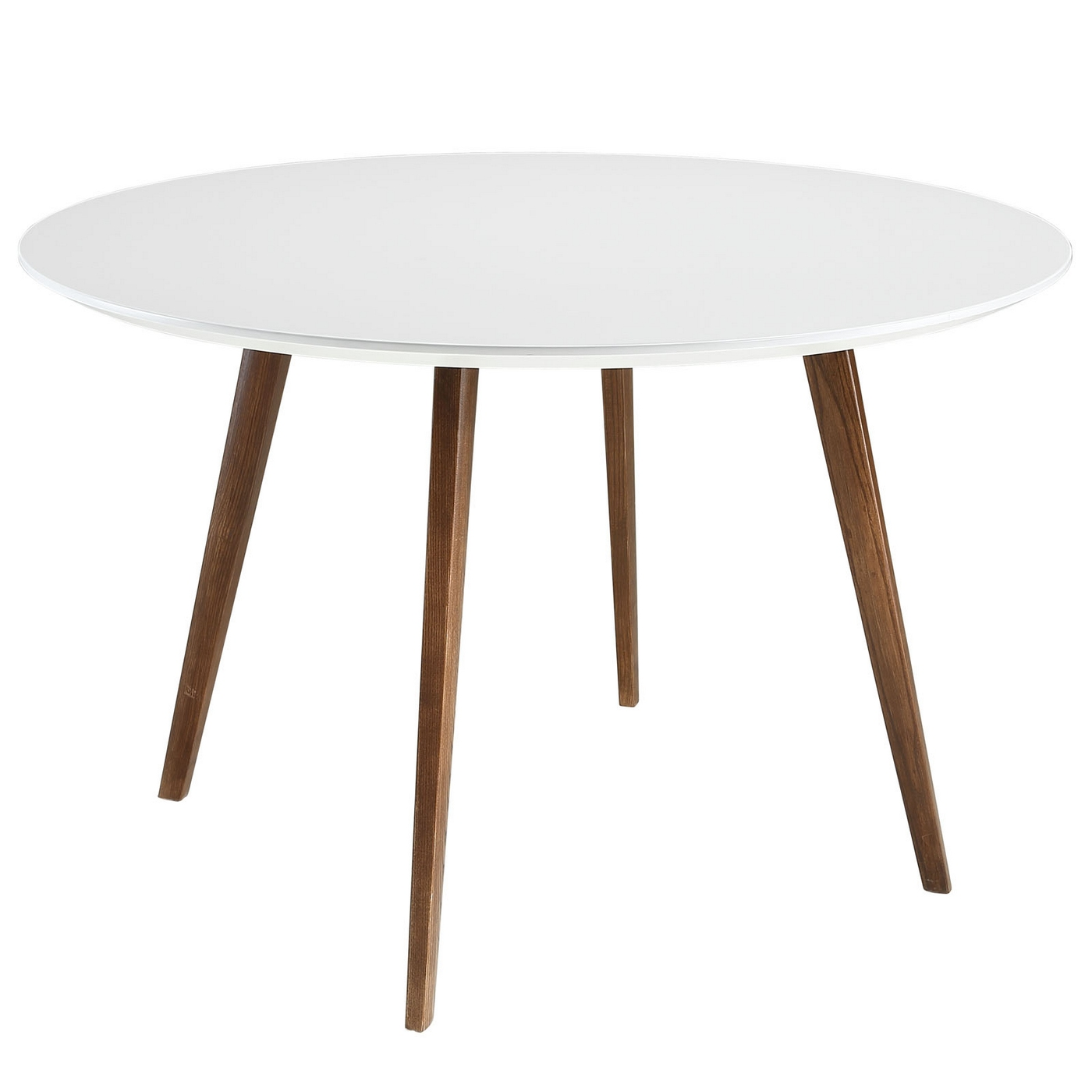 Round Table White Dining Wood